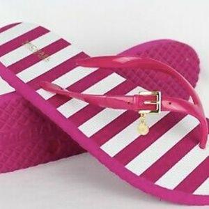 NWT Michael Kors Pink Flip Flops